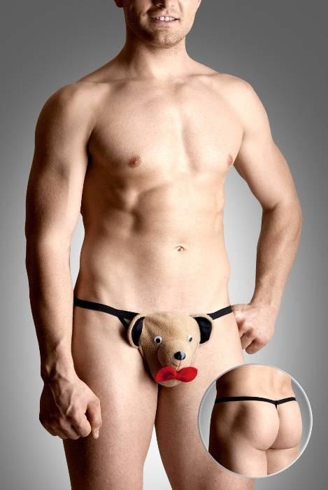 Стринги мужские Мишка, бежевый, S/L от интим магазина (секс-шопа) ElegantMo